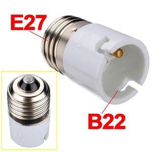 AMPOULE - LED Adaptateur Douille Culot B22 A E27 Douille Vis Tit