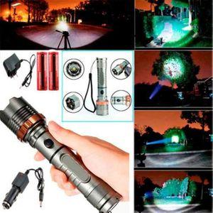LAMPE DE POCHE 2000lm XM-L T6 LED lampe de poche rechargeable Zoo