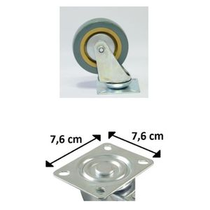 ROUE - ROULETTE Lot 4 Roulette Roue Pivotante Rotative - 10cm - 4