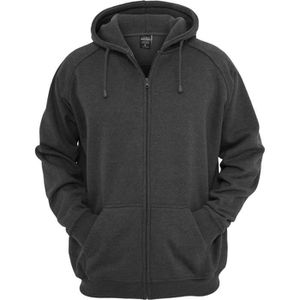 SWEATSHIRT Urban Classics - Zip Sweat à capuche charcoal - 3X