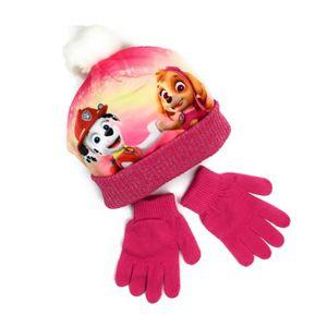 BONNET - CAGOULE Ensemble bonnet pompon + gants La Pat Patrouille R