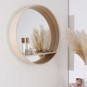 DOMTECH Miroir de Salle de Bain avec /étag/ères en ch/êne Sonoma avec /éclairage LED Miroir Mural