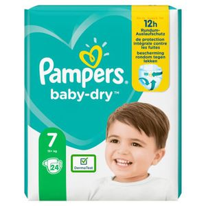 COUCHE pampers     pampers couches baby-dry taille 7 extr