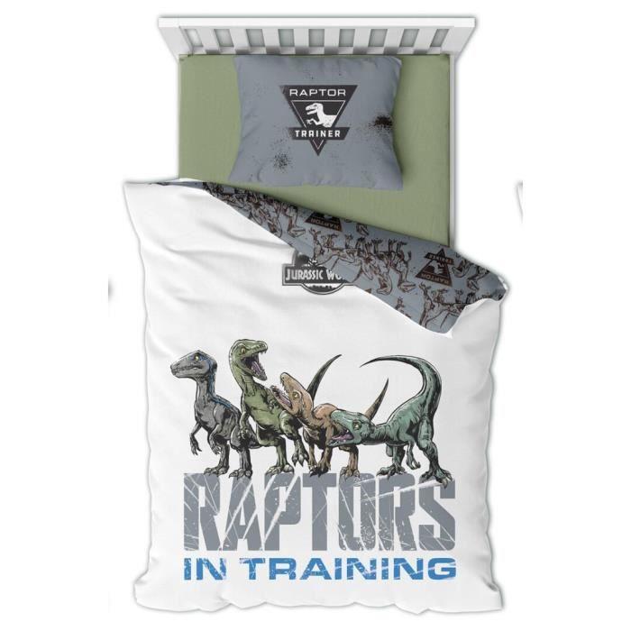 Parure de lit enfant Dinosaure Raptors Jurassic World