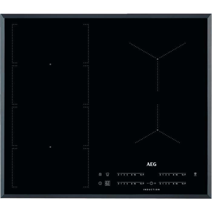 AEG IKE64471FB, Intégré, Plaque avec zone à induction, Noir, 2500 W, Rond, 14,5 cm