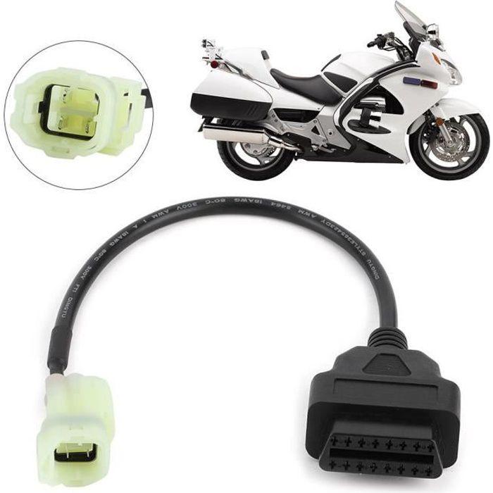 OBD2 à 4 broches câble d'adaptateur de diagnostic détection de défaut de moto adaptées aux motos Honda ou similaires -JIA