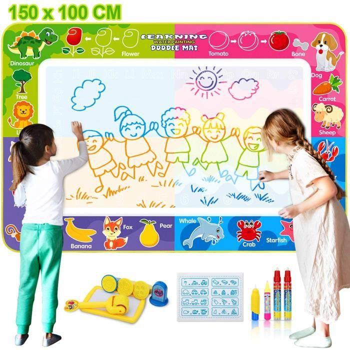 Tapis aquadoodle 150 x 100 cm de Dessin Eau Peinture Mats , Aqua Magic Doodle pour 4 à 6 Enfants - Divers Accessoires, Jouet Éducati