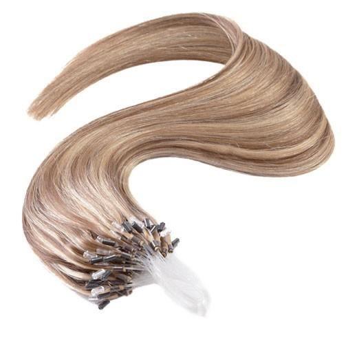 Extension Cheveux à froid lisse - Loop - Blond très clair méché