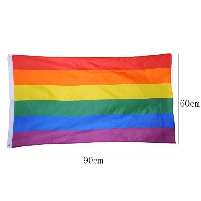Drapeaux colorés arc-en-ciel pour la paix, en Polyester, pour les lesbiennes et les homosexuels, bannière, pour la [F91376D]