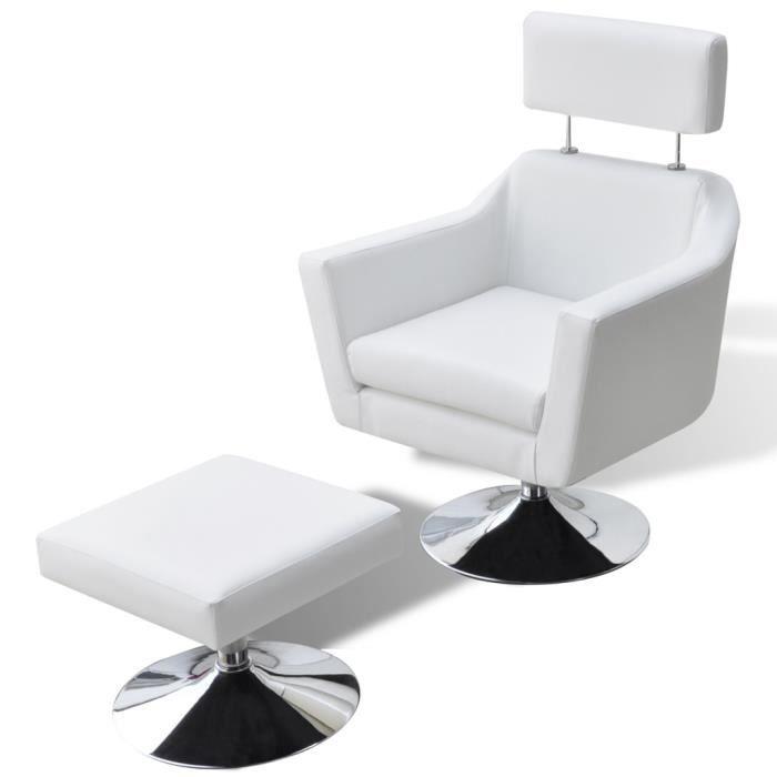 Fauteuil de salon blanc Elton -