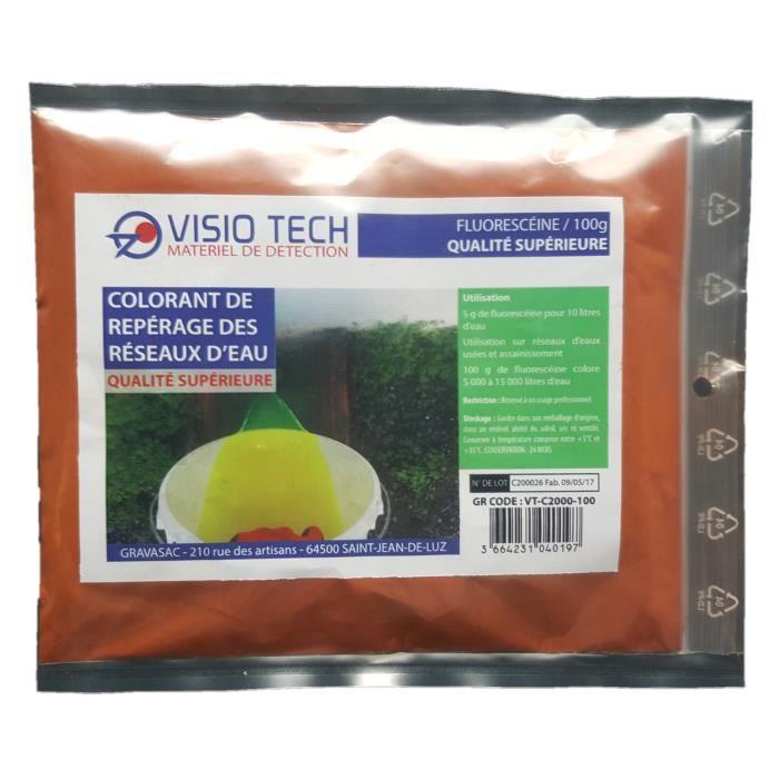 VISIO TECH Fluorescéine 100g, poudre soluble dans l'eau