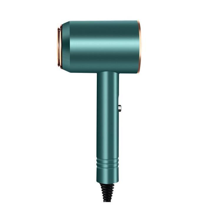 Sèche-cheveux avec peigne et lisseur, brosse à Air chaud, outils de coiffure, souffleuse ionique Dark green -WILM1218