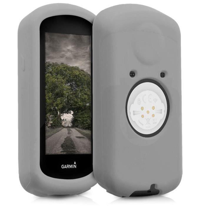 kwmobile Housse GPS vélo - Accessoire pour Garmin Edge 1030 - Protection boitier navigateur - Étui en Silicone Gris