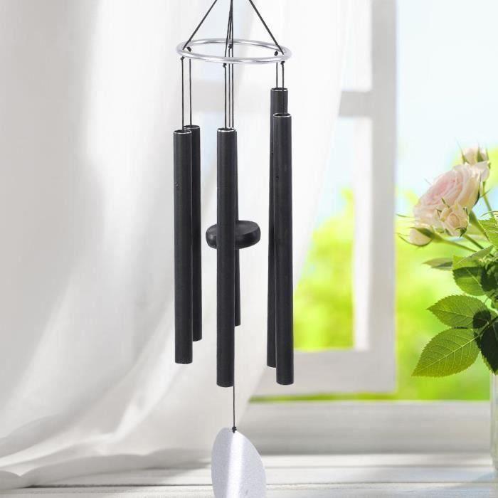 Carillon éolien, Instrument de musique carillon de vent de la meilleure qualité supérieure en aluminium noir grand aluminium