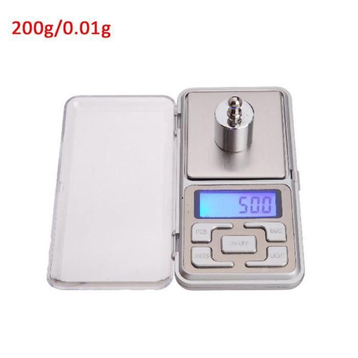 Offre spéciale 200g-300g-500g x 0.01g -0.1g-Mini Balance électronique de poche de précision pour bijoux en or Balance gr*YI1920