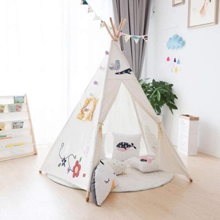 Tentes de jardin Madeinely Tente pour Enfants Intérieur Playhouse Indian Toy Tipi Jeu Tente for Les Enfants Tout-Petits 20585