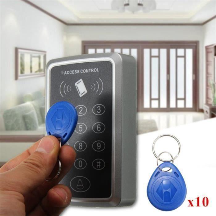 125KHz Système Porte Contrôle d'Accès RFID Serrure Electrique Avec 10pcs ID Carte Clés Sh13650