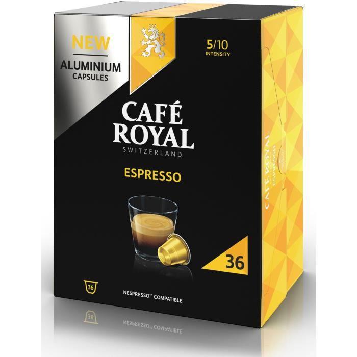 CAFE ROYAL Café Capsules en aluminium Espresso - Lot de 5 x 36 capsules