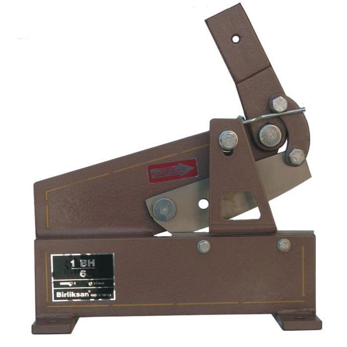 Cisaille robuste pour tôles d'acier 6 mm - 180 mm Birliksan BIR1BH6