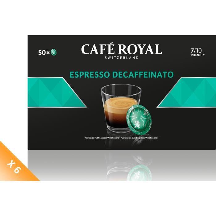 Lot de 6 CAFE ROYAL Compatible Nespresso Professionnel Espr. Decafféinato x50