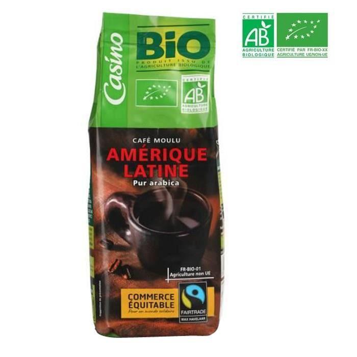 Café moulu pur Arabica Amérique Latine Bio - 250 g
