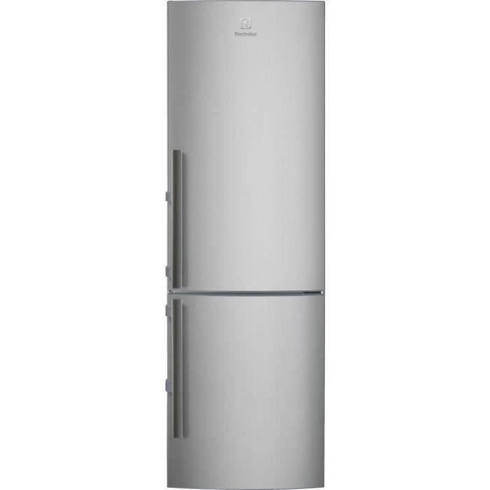 ELECTROLUX LNT4TE33X2 - Réfrigérateur congélateur bas - 311L (220+91)- Froid ventilé - No Frost - H201 x L60cm - Inox