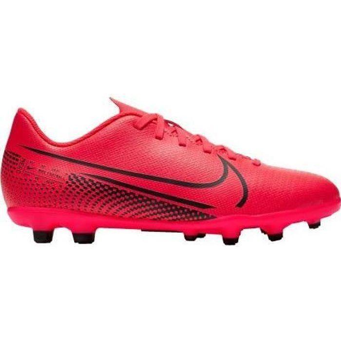 NIKE Chaussures de Football JR VAPOR 13 CLUB FG et MG - Enfant - Rouge