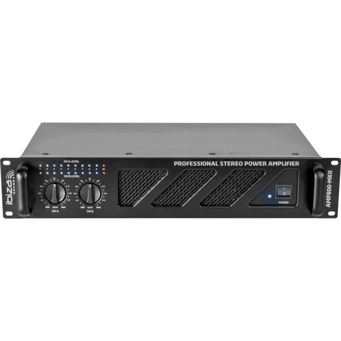 IBIZA AMP800-MKII - Amplificateur de sonorisation 2 x 600W