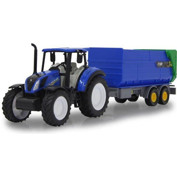 Jamara Tracteur New Holland avec benne 35 cm bleu