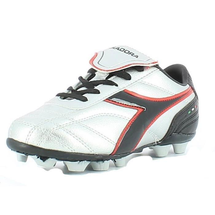 Diadora Chaussures de Football Garcon Argent