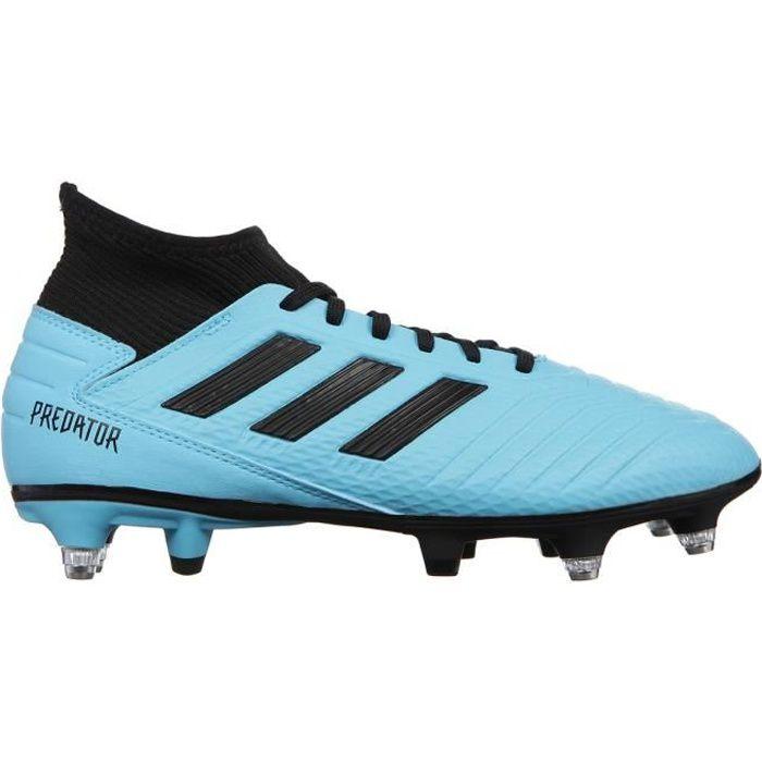 ADIDAS PERFORMANCE Chaussures de Football Predator 19.3 SG - Homme - Turquoise/Noir/Jaune