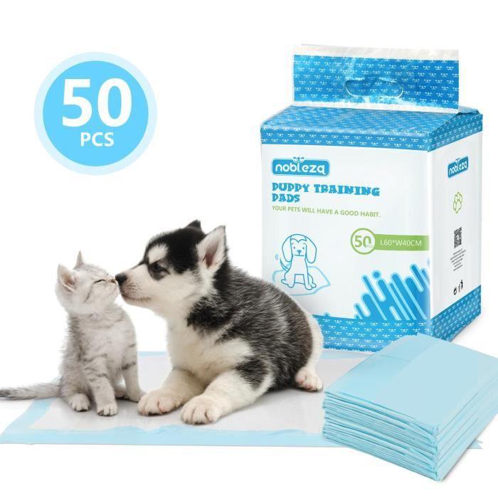 Nobleza - Lot de 50 tapis d'hygiène pour chiens. Ultra-absorbant. 40x60cm.