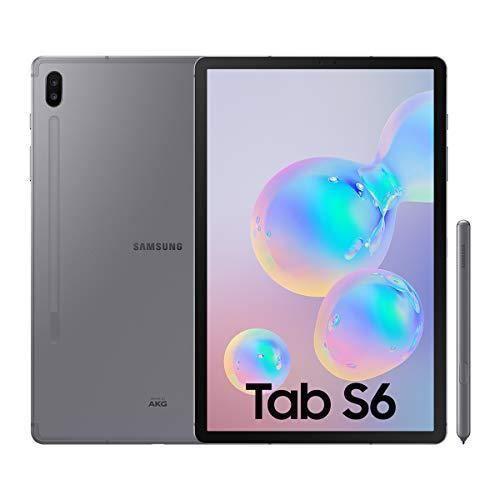 Samsung Galaxy Tab S6 Tablette 10.5 (256 Go, S Pen Inclus, écran SamoLED, LTE), Gris