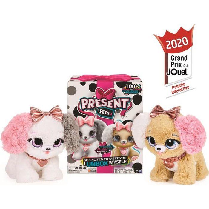PRESENT PETS Surprise Fancy Pups - 6051197 - Peluche chien interactif et sonore - Jeu Jouet enfant - Unboxing - Modèle aléatoire