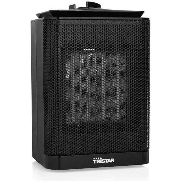 Tristar KA-5013 Chauffage électrique (céramique), Fan electric space heater, Céramique, Intérieur, Sol, Noir, 1500 W