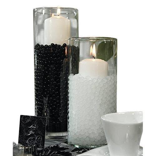 Noir 25 Paquets de billes centre de Vase