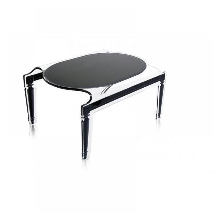 petite table sixteen noir plexi acrila design achat. Black Bedroom Furniture Sets. Home Design Ideas