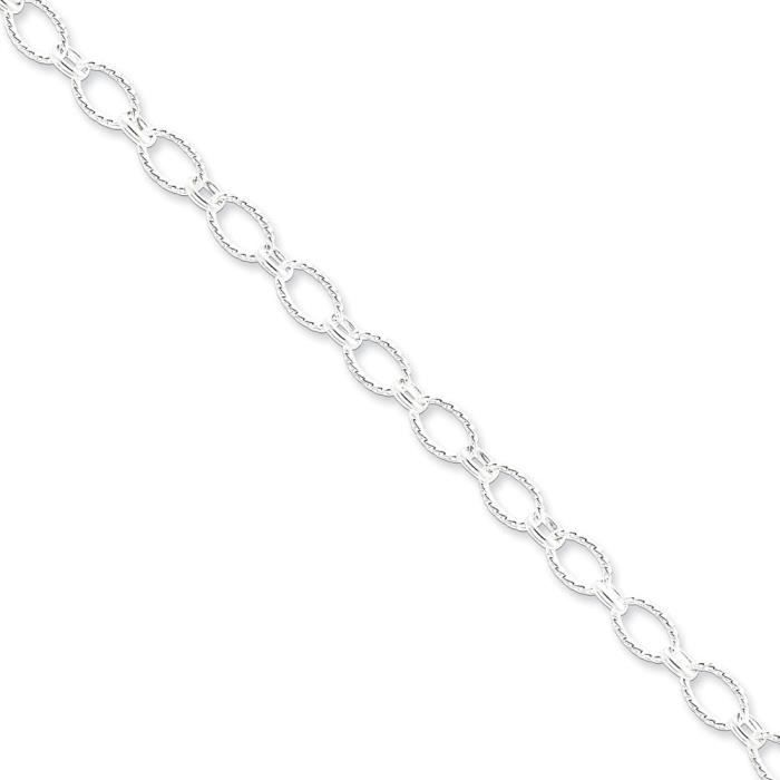 Argent 925 Collier Fantaisie - 20 cm - 6,1 mm-Fermoir mousqueton