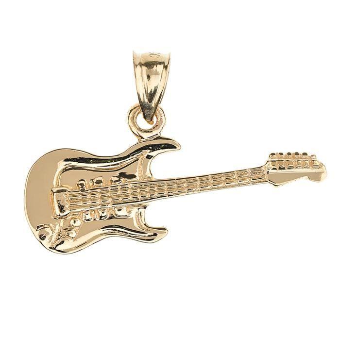 Pendentif en forme de guitare en or jaune 10 carats