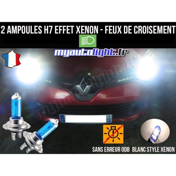 OPTIQUES ET ANTIBROUILLARDS 2 AMPOULES H7 12V 55W LOOK XENON POUR PHARES