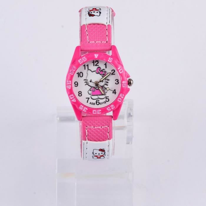 MONTRE Grosses s Hello Kitty montres fille mode Dessin an