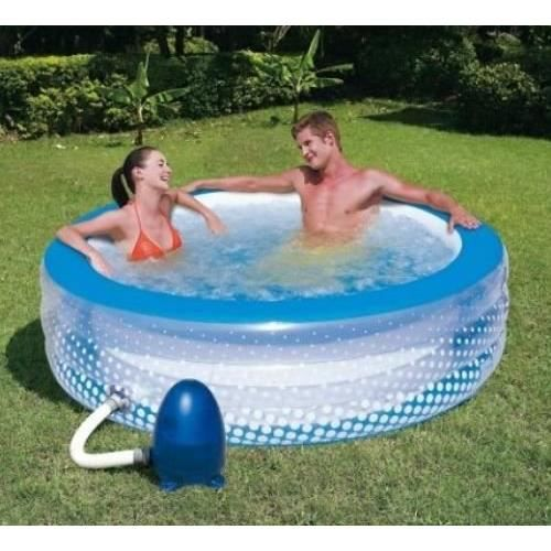 piscine a bulles gonflable pompe a air electriqu achat vente piscine piscine a bulles. Black Bedroom Furniture Sets. Home Design Ideas