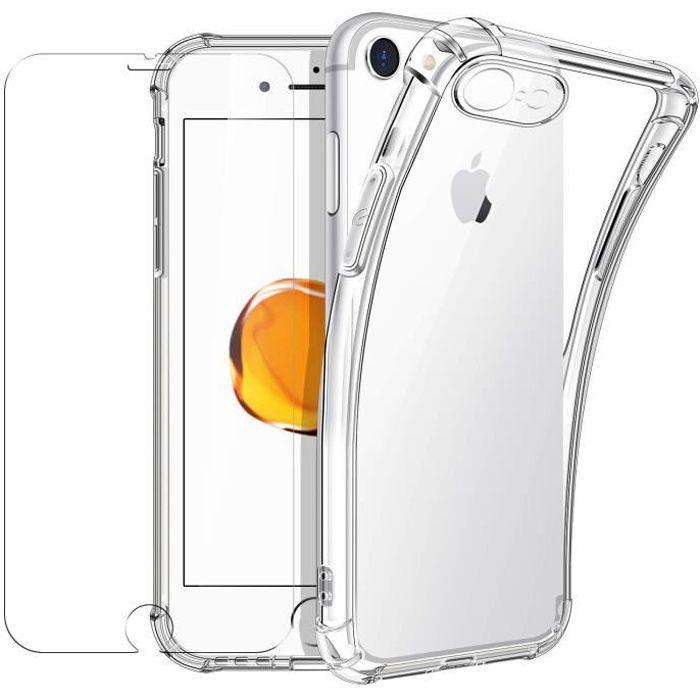 N&T Coque iPhone 7/8 (4,7) [Verre Trempé Protect