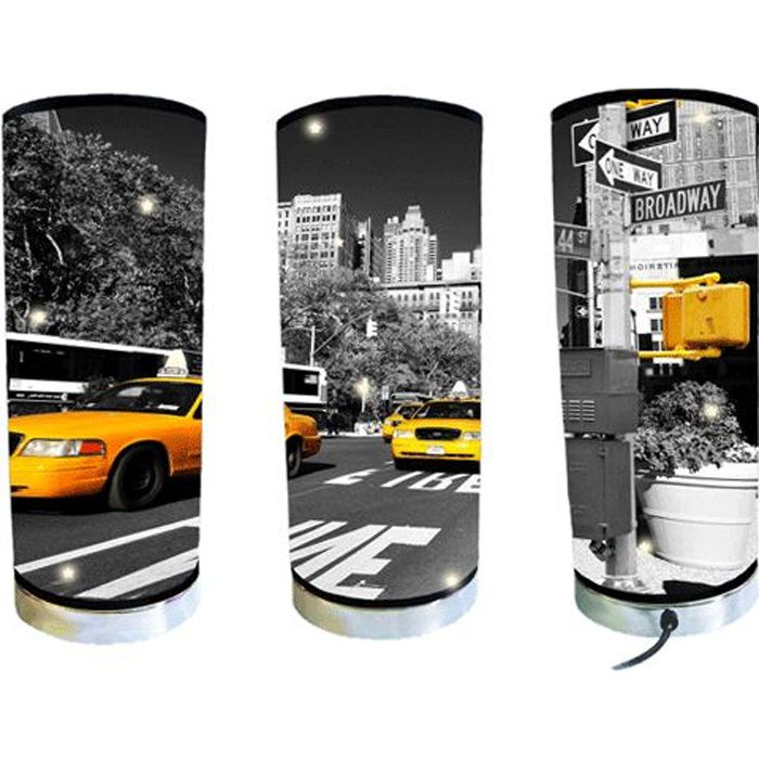 lampe new york taxi achat vente lampe cdiscount. Black Bedroom Furniture Sets. Home Design Ideas