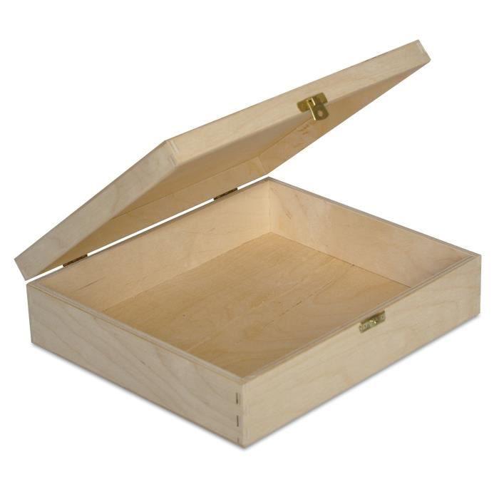 COFFRE - MALLE Creative Deco Boîte de Rangement Bois | 29 x 25 x