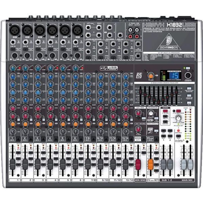 behringer table de mixage et interface x1832usb table de mixage avis et prix pas cher cdiscount. Black Bedroom Furniture Sets. Home Design Ideas