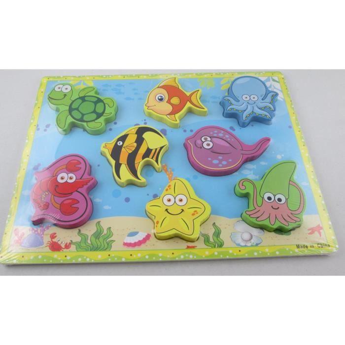 PUZZLE puzzle en bois éducatif forme animaux de la mer