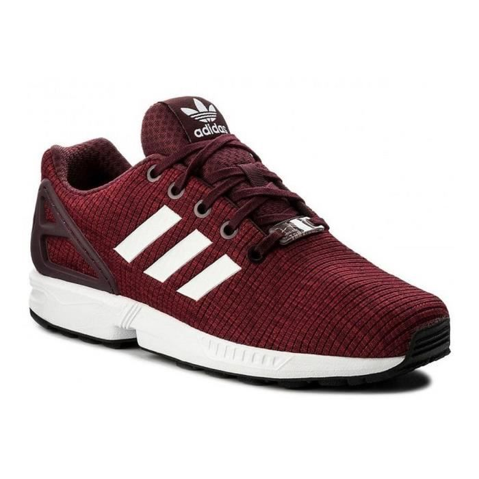 8748f05f807 Chaussures Adidas ZX Flux J Rouge Rouge - Achat   Vente basket ...