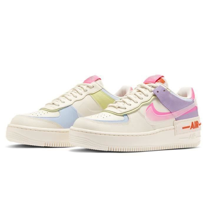 Air Force 1 Shadow Chaussures Baskets Airforce One pour Femme Cuir ...