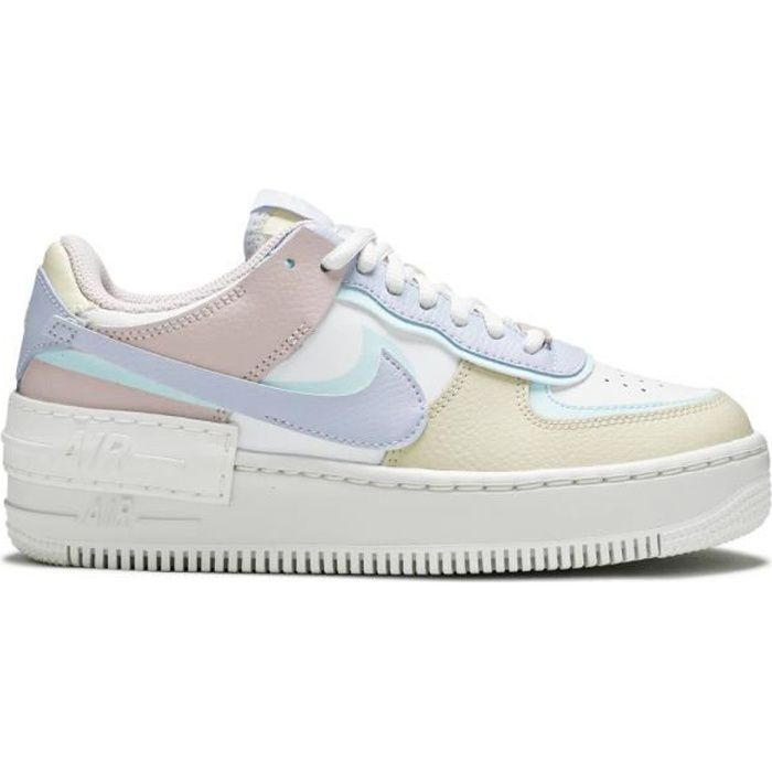 BASKETS NIKES AIRS FORCE WMNS SHADOW 'PASTEL' Orange - Cdiscount ...